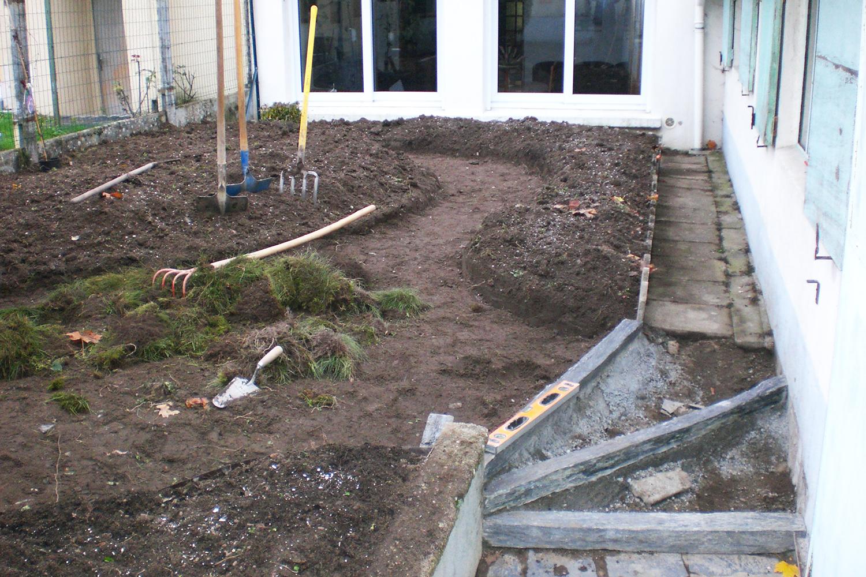 Jardin Trelaze Nord pendant travaux paysagers 2
