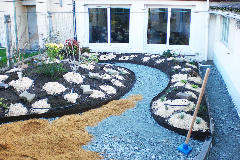Jardin Trelaze Nord pendant travaux paysagers 3