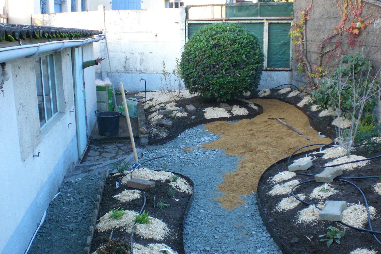 Jardin Trelaze Sud pendant travaux paysagers 3