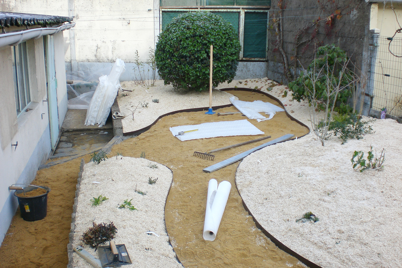 Jardin Trelaze Sud pendant travaux paysagers 4