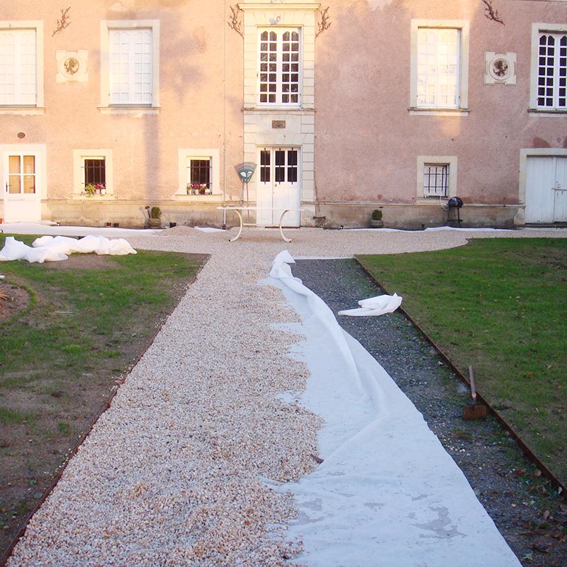 Jardin de propriété à La Possonnière 49