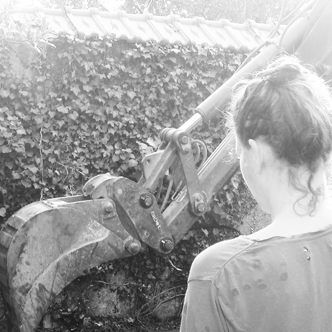 Suivi de chantier d'aménagement paysager à La Possonnière Maine et loire 49