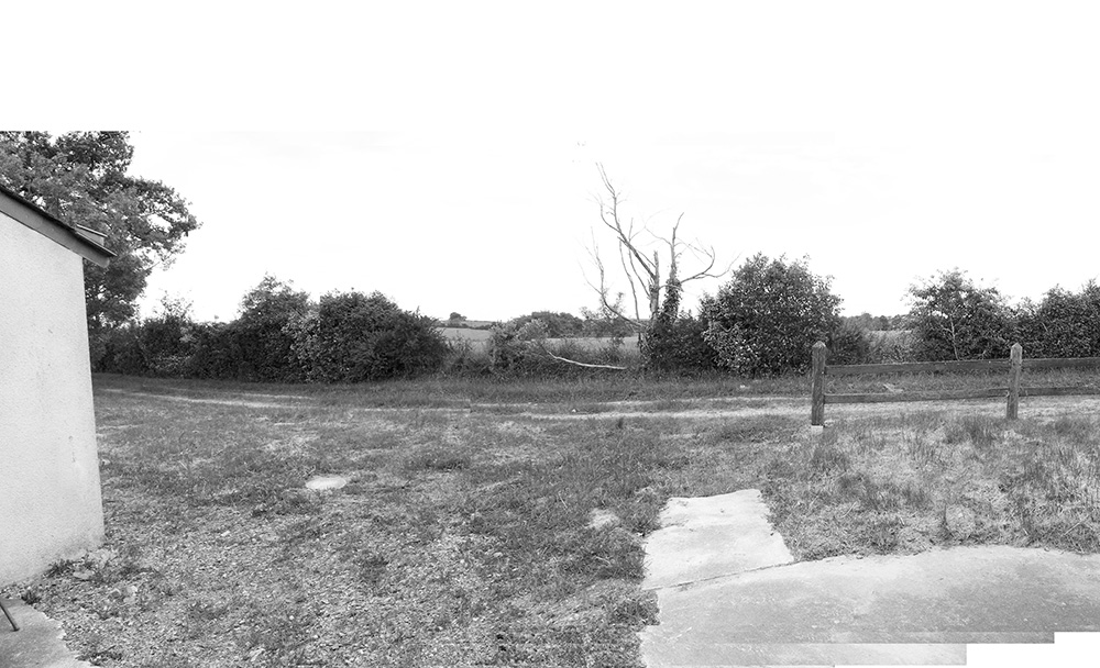 Photo pour croquis d'une future terrasse ombragée