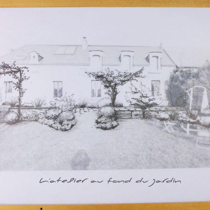 Esquisse façade paysagée