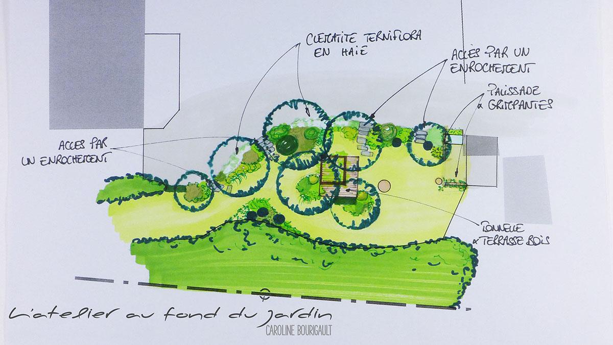 Avant projet jardin boisé