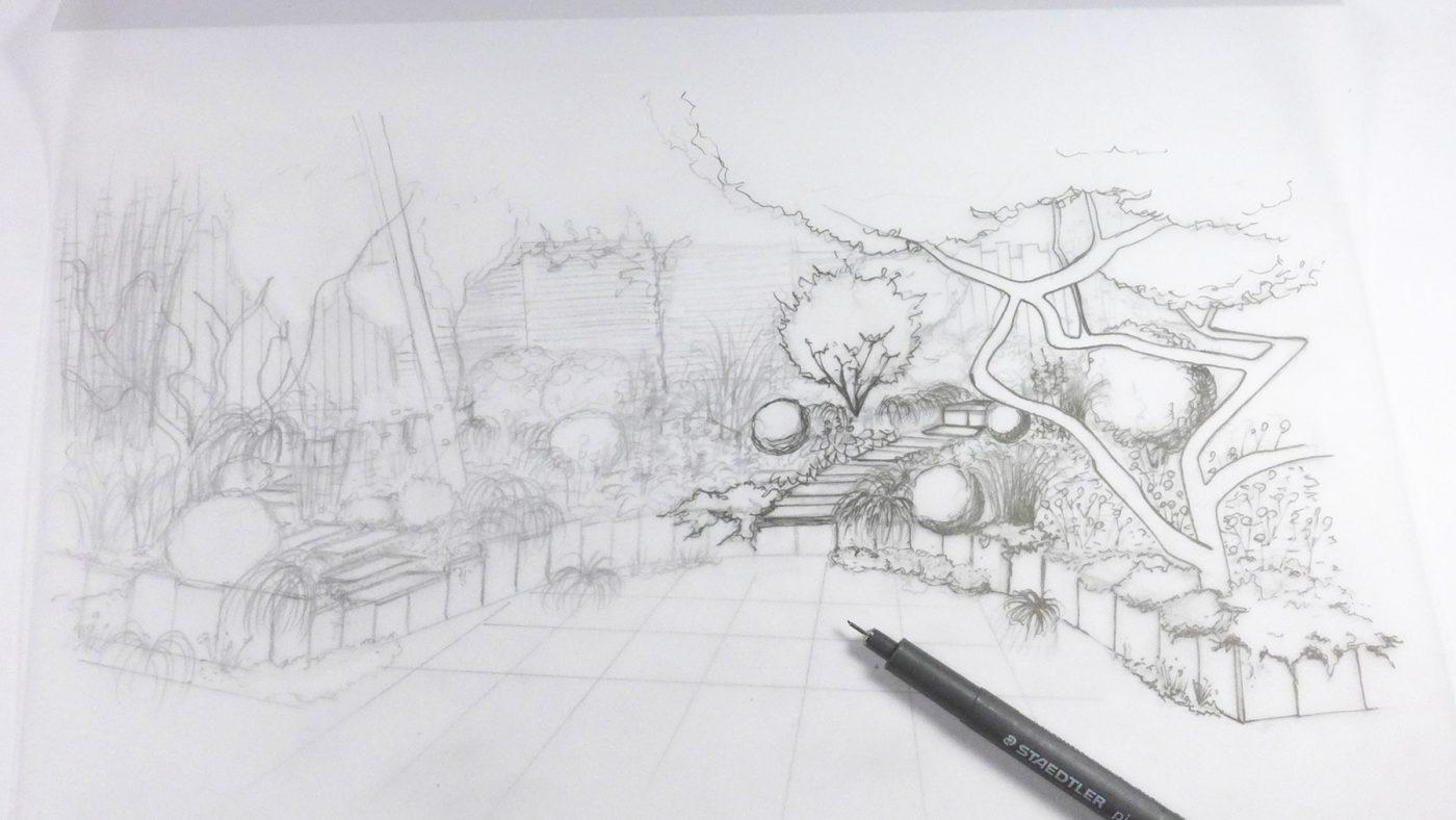 Esquisse au crayon massif ombragé