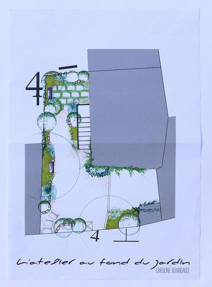 Am nagement d 39 une petite cour l 39 atelier au fond du jardin for Amenager petit jardin 50m2
