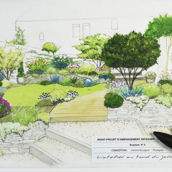 Aménagement jardin avec étages
